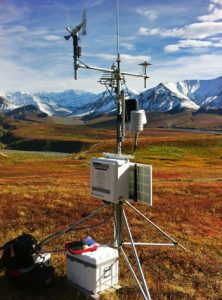 weather station on a tripod