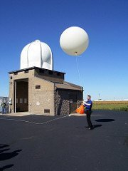 Meteorologists like playing with balloons