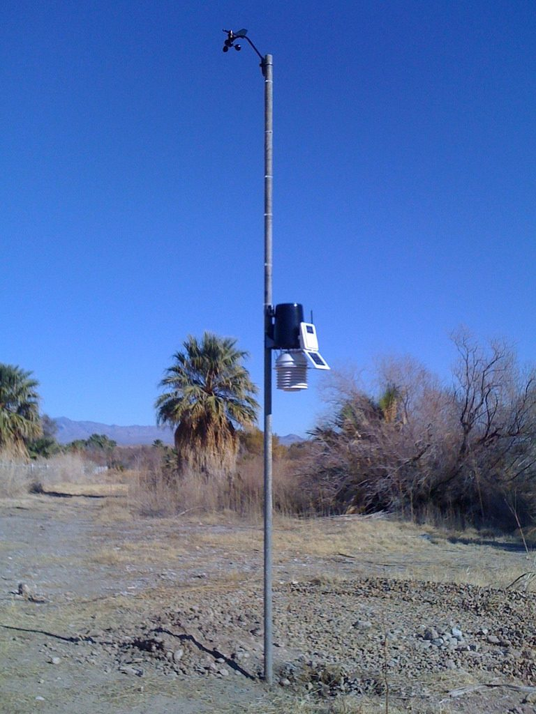 Install the weather station on a stand-alone pole or post