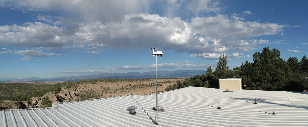 How about attaching a weather station mast to a roof vent