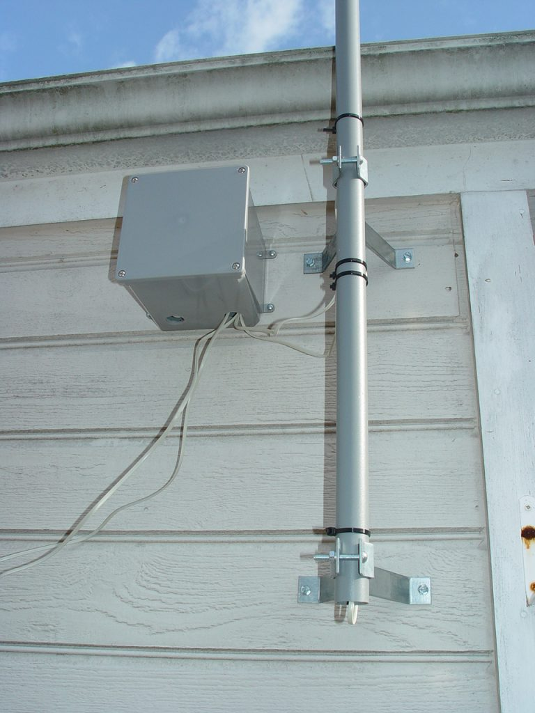 weather station with wall stand off brackets
