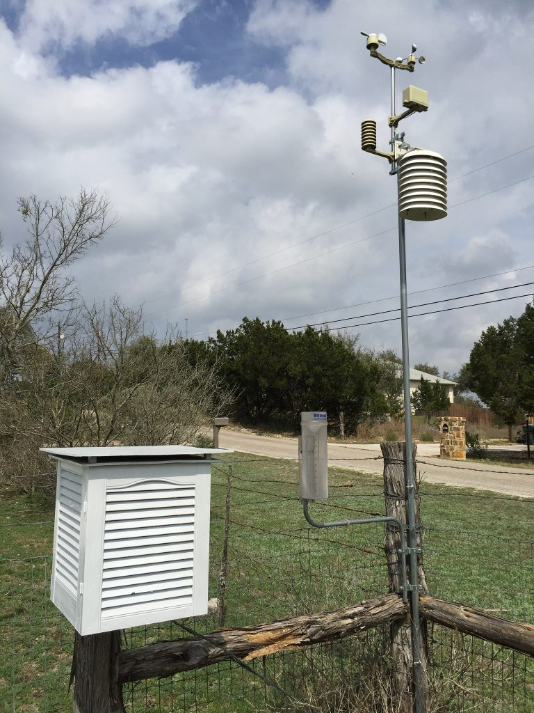 mount your weather station to a fence post