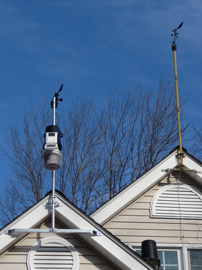 Gable mounted weather station