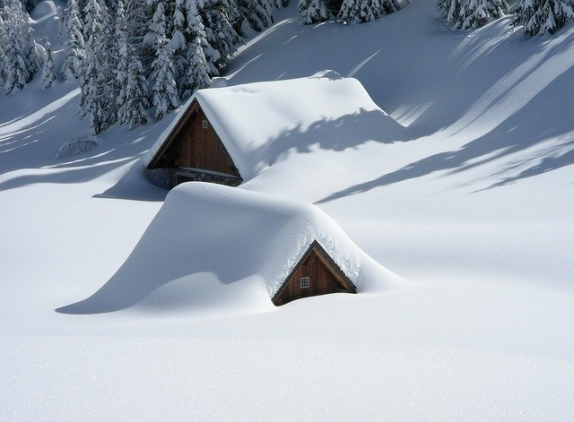 Heavy deep snow on your roof