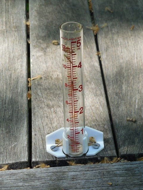 Measure snow with a graduated rain gauge